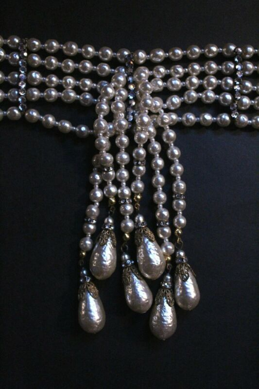 Miriam Haskell Choker Pearl Necklace