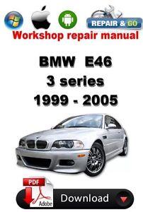 bmw e46 service manual ebay