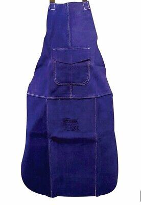 5 X Premium Blue Leather Welders / Welding / Carpenters / Gardeners Safety Apron