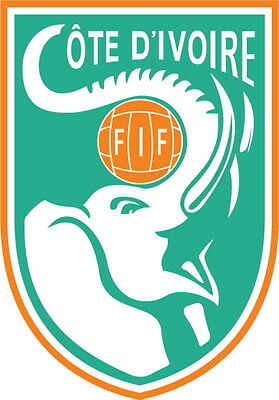 Ivory Coast Vinyl DieCut Sticker Decal Logo Football Soccer 4 Stickers