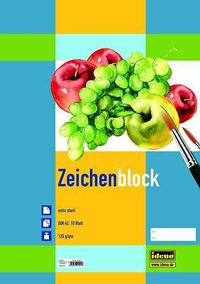 5 Zeichenblöcke / 10 Blatt je Block / Malblock DIN A2 / 120g/m²