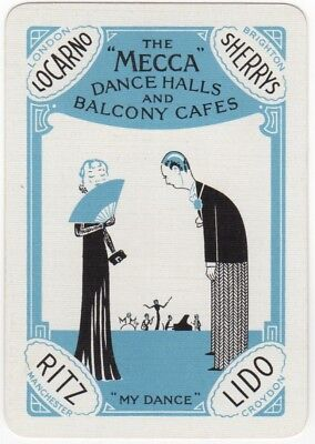 Playing Cards 1 Single Swap Card Old Vintage Wide MECCA DANCE HALLS Jazz Band #1