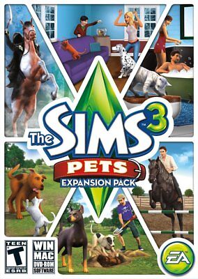 Computer Games - The Sims 3 Pets PC Games Windows 10 8 7 XP Computer expansion pack for sims 3