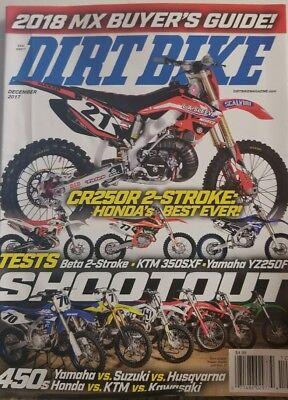 Dirt Bike Magazine Dec 2017 CR250R 2 Stroke Honda's Best Ever ! FREE SHIPPING