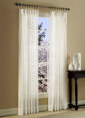 Pleated Sheer Curtains (SPLENDOR BATISTE CURTAINS PINCH PLEATED SHEER)