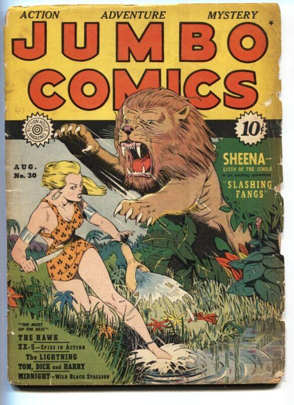 Jumbo Comics #30 1941- Sheena- Good Girl Art P