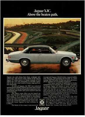 1976 JAGUAR XJC white coupe black top Vintage Print Ad