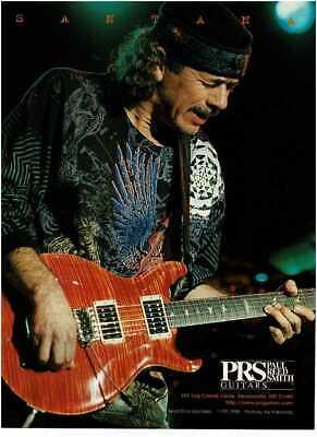 1997 PRS Electric Guitars Carlos Santana Vintage Print Ad