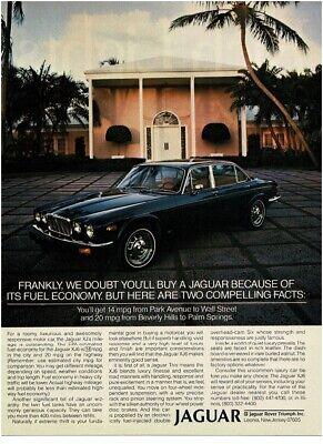 1979 JAGUAR XJ6 dark blue 4-door sedan Vintage Print Ad