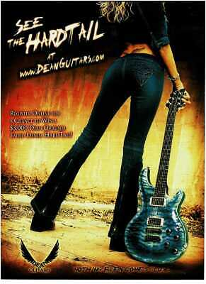 2003 DEAN GUITARS Hardtail Electric Guitar Faded Denim Vintage Print Ad