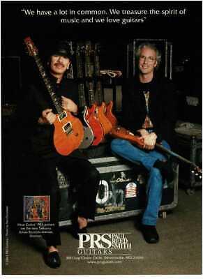2003 PRS GUITARS Carlos Santana with Paul Reed Smith Vintage Print Ad