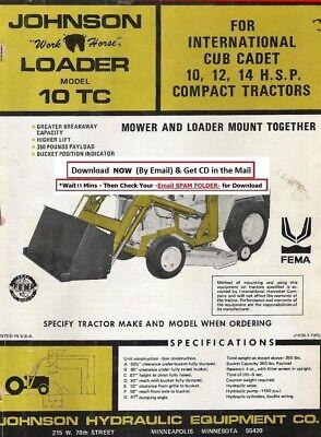 Johnson Loader Model Tc 10 Terra-blade Installation And Parts Manual