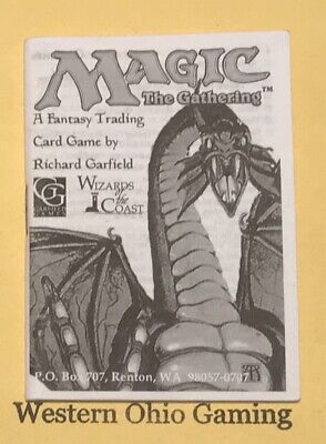 MTG Magic Revised Edition Rulebook from Starter Pack USED Rule Book