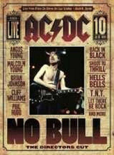"""AC/DC """"NO BULL (LIVE)"""" BLU RAY NEU"""