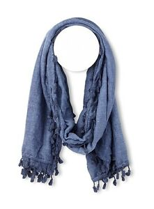 TASSEL-TRIM LIGHTWEIGHT SCARF-BRAND NEW!