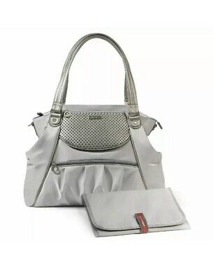 Skip Hop Studio Select Day to Night roomy diaper tote/bag, pewter/silver, NWT
