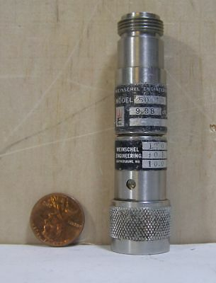 Weinschel Engineering Fixed Coaxial Attenuator Model50-10 9.98db Sng7032