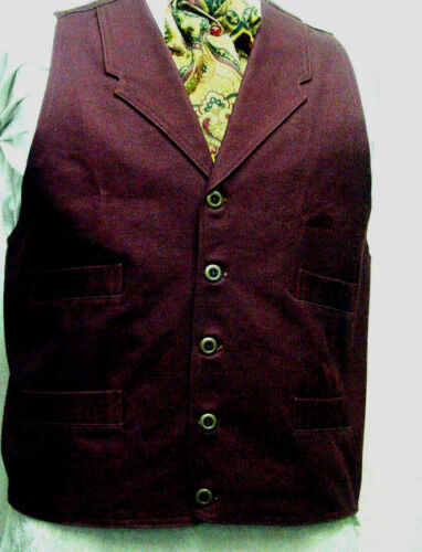 Frontier Classics Old West Victorian Westworld Son BURGUNDY style mens vest