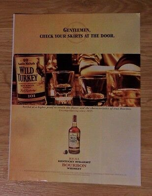 2004 Print Ad Wild Turkey Bourbon Whiskey ~ Gentlemen, Check Your Skirts at Door