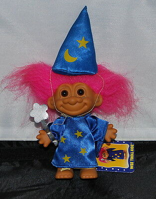 Wizard with Wizard Hat and Magic Wand Russ Troll 5 inches  - Magic Wand And Hat