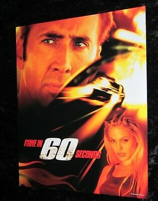 GONE IN 60 SECONDS lobby card # 4 NICOLAS CAGE, ANGELINA JOLIE