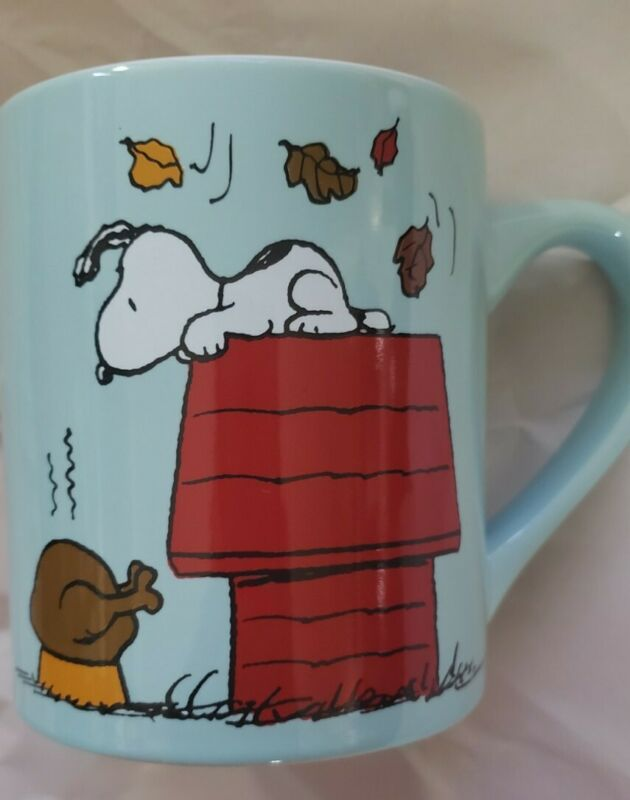 SNOOPY / PEANUTS BE THANKFUL COFFEE MUG - THANKSGIVING