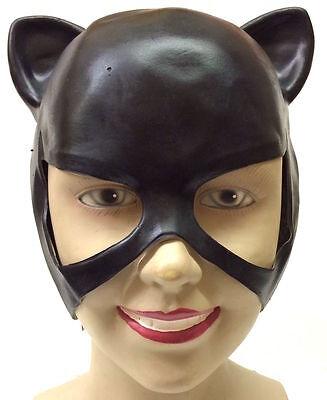 Catwoman Maske Erwachsene Superheld Kostüm Halloween Ohren Halber Kopf - Superheld Kostüm Catwoman