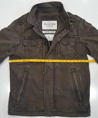 Abercrombie And Fitch Sentinel Jacket Military Brown Mens Large (Flaws)
