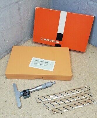 Mitutoyo 229-115 0 To 100mm Digital Depth Micrometer In Box New