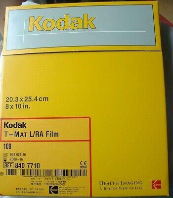 Kodak T-mat Lra Film 100 8x10 In. X-ray Ref 840 7710