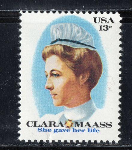 CLARA MAASS * SHE GAVE HER LIFE *  Vintage U.S. Postage Stamp Mint