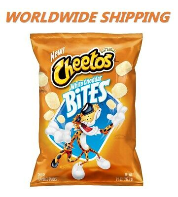 Cheetos White Cheddar Bites Cheese Flavored Snacks 7.5 Oz WORLDWIDE - Cheddar Bites