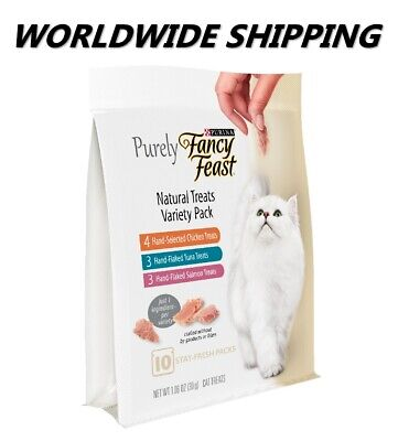 Purina Purely Fancy Feast Variety Pack Cat Treats 10 Ct WORLDWIDE