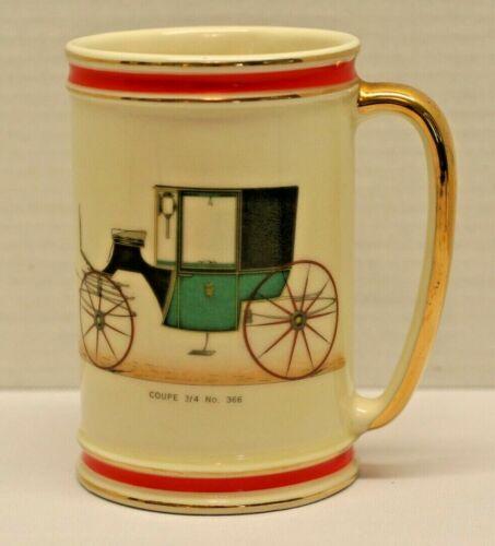 Vintage Hyalyn 620 Ceramic Stein Mug Coupe 3/4 No. 366 Auto Gold Tone Handle Rim