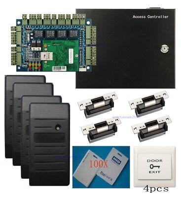 Hid 6005b Prox Reader H10301 Card 4 Doors Access Control System Ansi Strike Lock