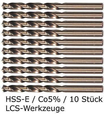 10 x HSS-E Spiralbohrer 1,0 - 5,9mm Cobalt Kobalt CO5% HSS-CO HSSE VA V2A V4