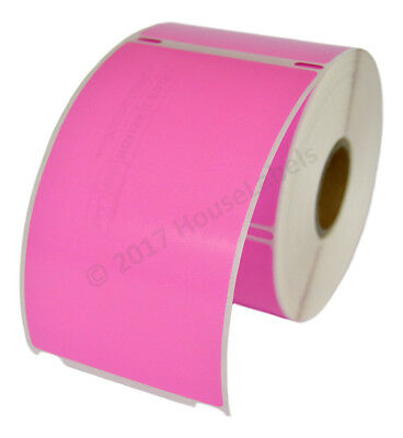 Dymo Lw 30256 Color Large Direct Thermal Pink Shipping Labels - 2 Rolls Of 300