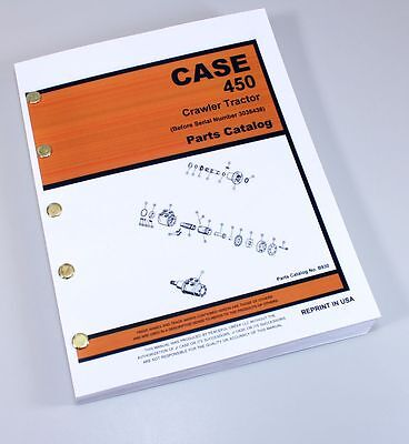 J I Case 450 Crawler Tractor Loader Dozer Parts Catalog Manual Sn 3038436-down
