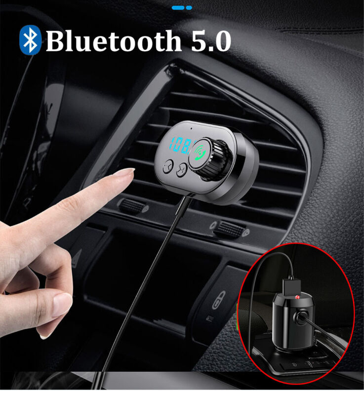 Air Vent/Panel Magnetic Bluetooth Handfree FM Transmitter MMC MP3 Player USB Car