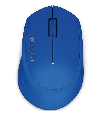Logitech Wireless Curved Design Mouse M280 Blue