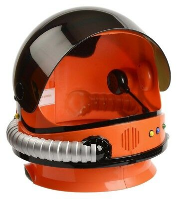 Orange NASA Child Astronaut Helmet with Sound Space USA Costume