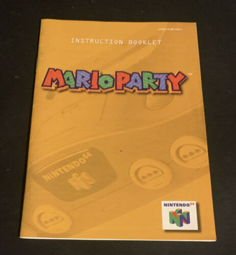Mario Party Instruction Booklet Manual Only Nintendo 64 N64 Authentic Excellent - $3.25
