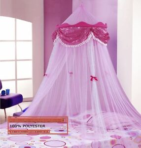 PINK PERFECT PRINCESS BED CANOPY MOSQUITO NET NEW