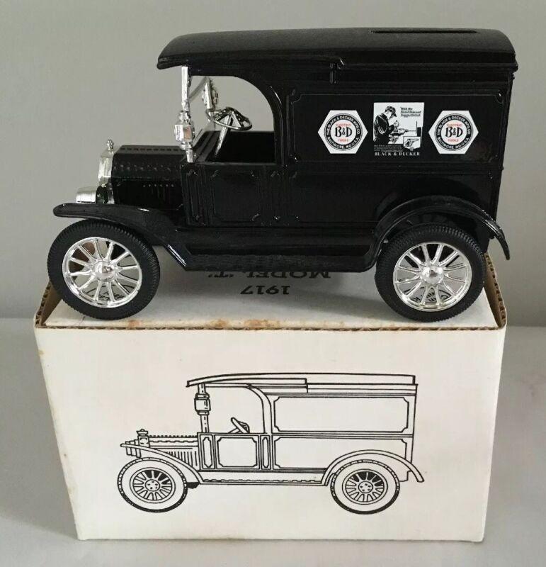 """ERTL 1917 Ford Model """"T"""" Bank  Black & Decker 1/25 Scale"""