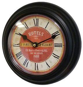 style ancienne petite horloge pendule de cuisine campagne bureau d entr e 21cm. Black Bedroom Furniture Sets. Home Design Ideas