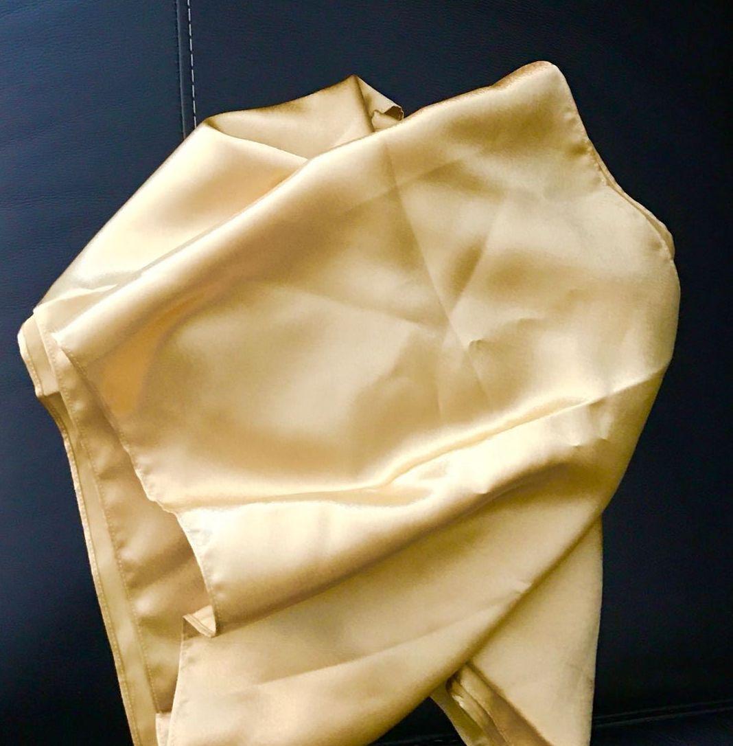 Taft Schal Stola Tuch Gold Schwarz Lila Stoff passt z Abendkleid Ballkleid Kleid