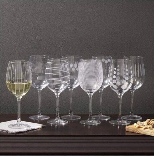 Mikasa Cheers White Wine Glasses, 16-Ounce, Set of 8 / New /
