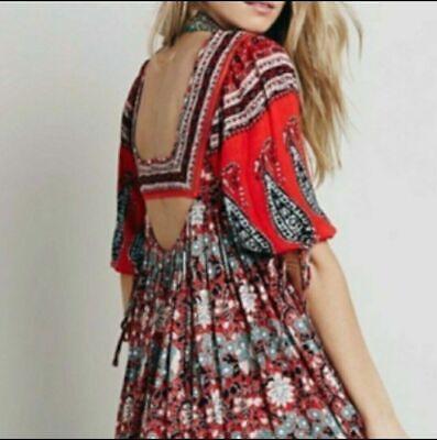 Free People Midsummer Dream Dress L Red MSRP$148