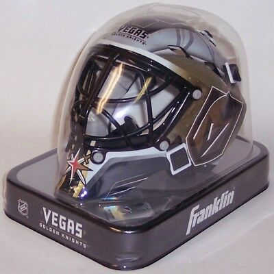 info for 3eae6 077e6 Las Vegas Golden Knights Franklin Sports NHL Mini Goalie Mask Helmet -NEW  in BOX
