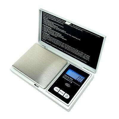 500g x 0.1g Digital Pocket Scale .1g Precision - portable - Silver - CS500